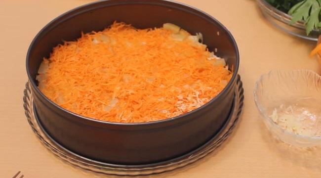 3 слой моркови