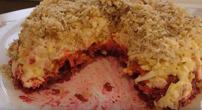 салат в разрезе