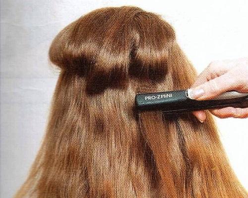 сделайте гофре на волосы для прически