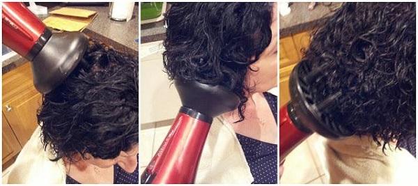 сушка волос с диффузором