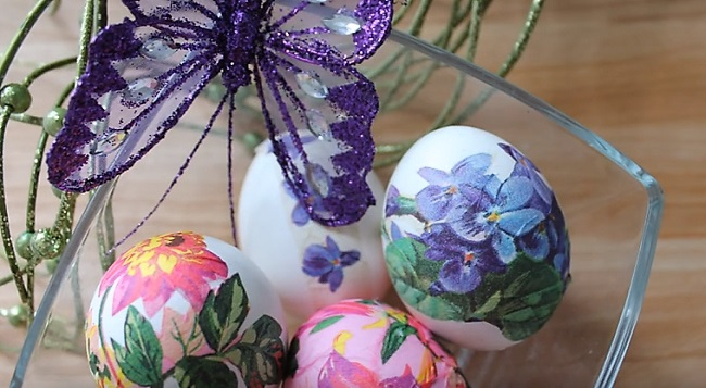 яйца с бабочкой