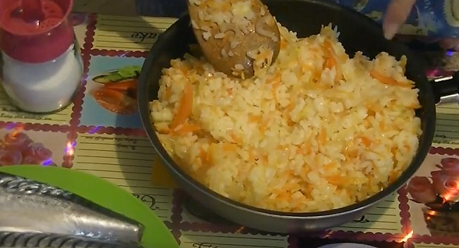перемешиваем с рисом