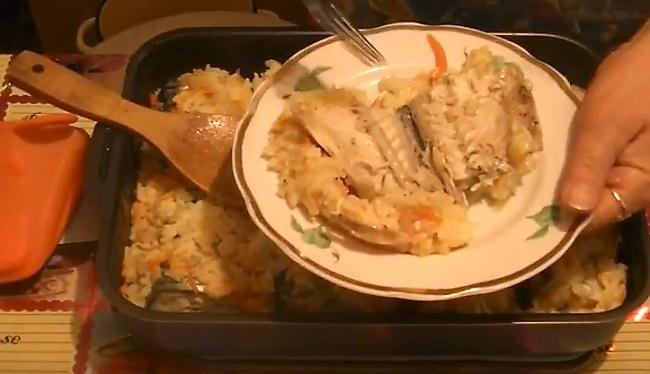рыба запеклась вкусно