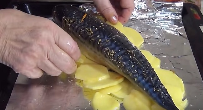 рыба на картошке