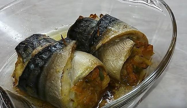запеченные рулеты из рыбы