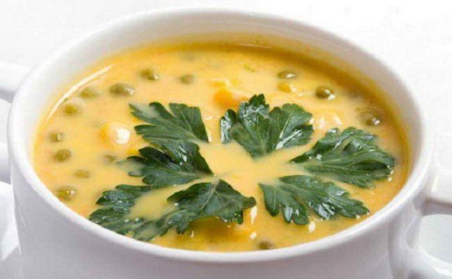 суп сырный с горохом