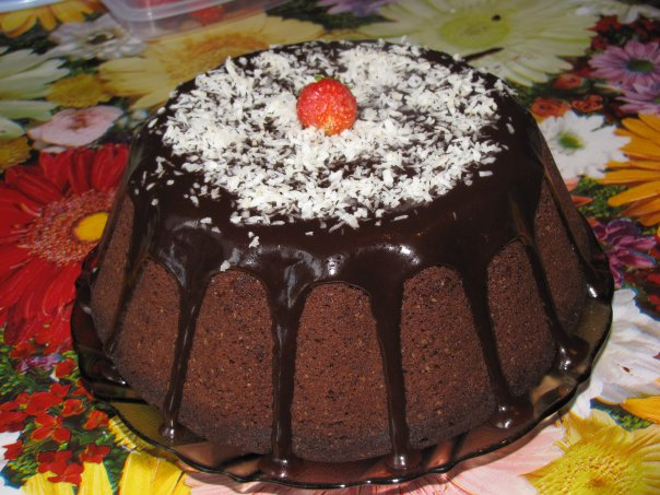 глазурь шоколадная с кокосовой стружкой