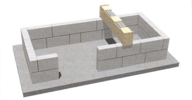второй ряд блоков