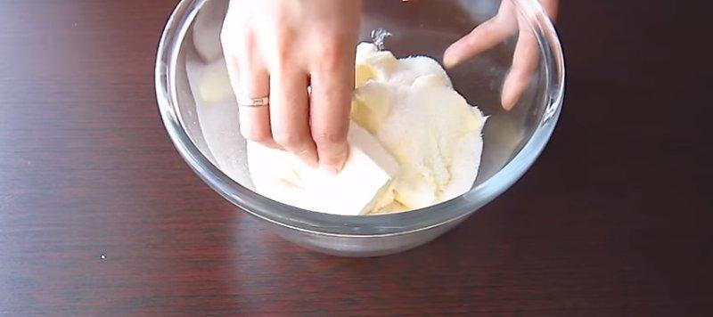готовим тесто с сыром