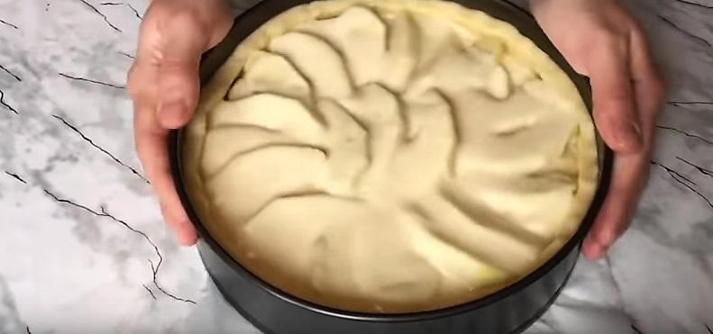 яблоки в заливке