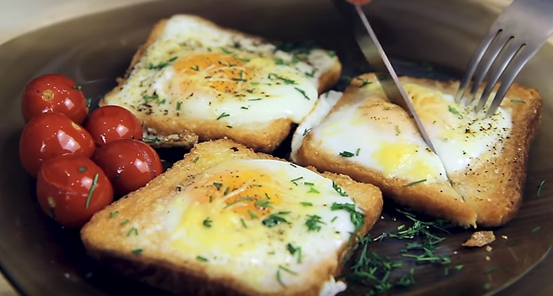 хлеб и яйца