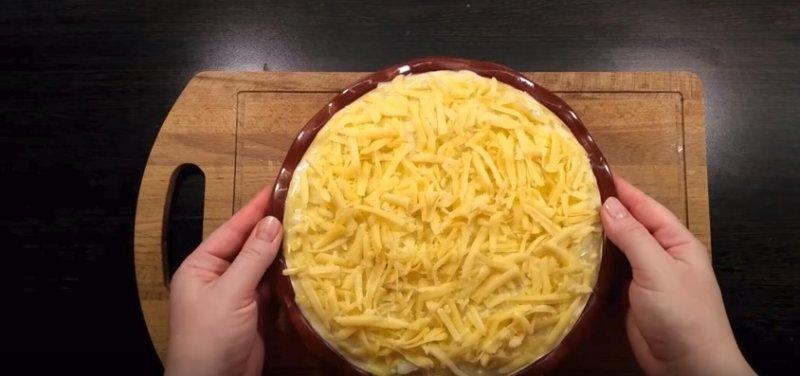 сыр натертый сверху