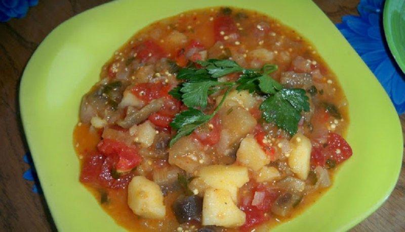 готовое блюдо - овощное рагу