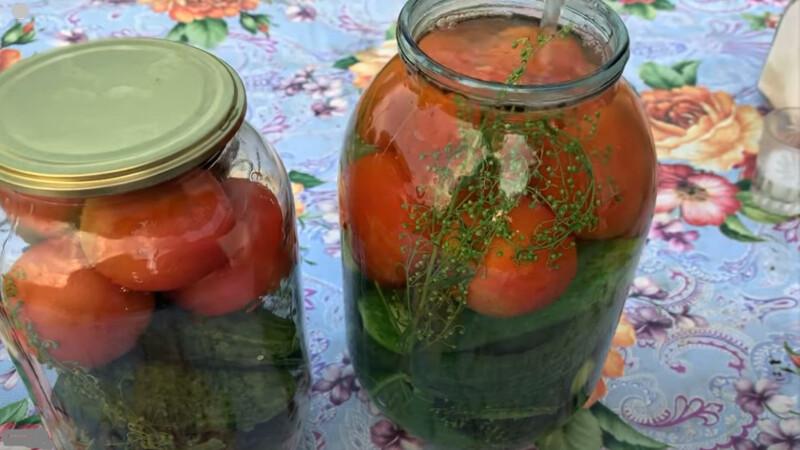 горячая заливка овощей