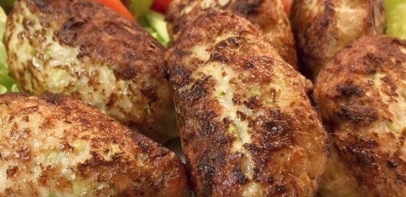 котлеты из кабачка и мяса