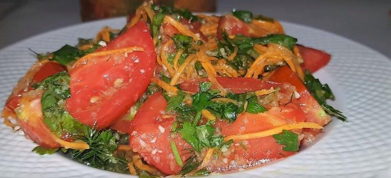 помидоры по-корейски с морковью