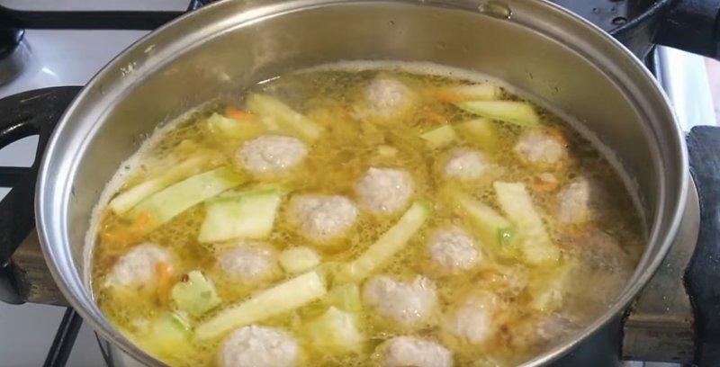суп с поджаркой