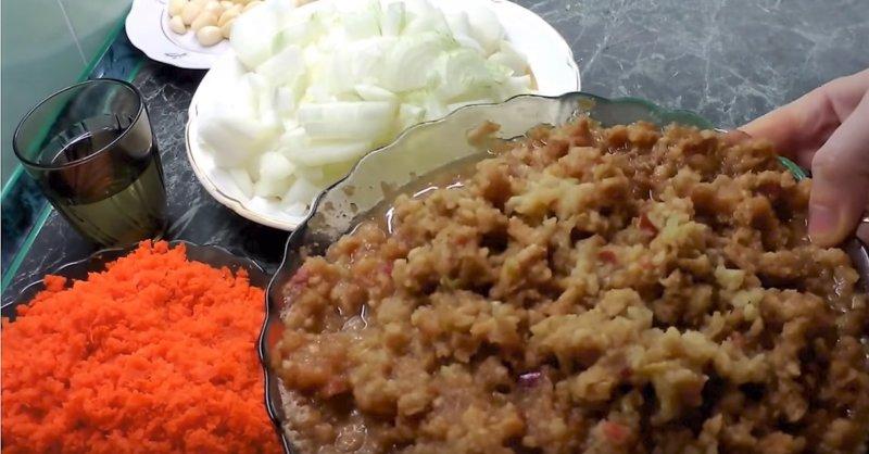 овощо пропущенные через мясорубку
