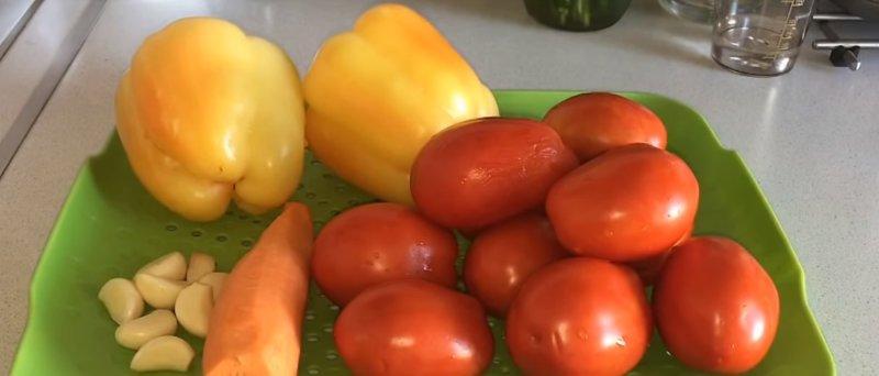 необходимые овощи
