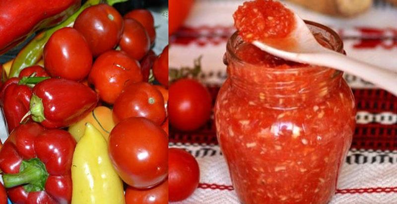 приправа на зиму из томатов и перца