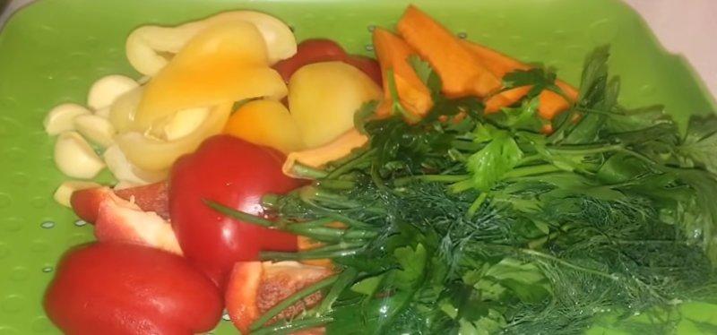 овощи почищенные