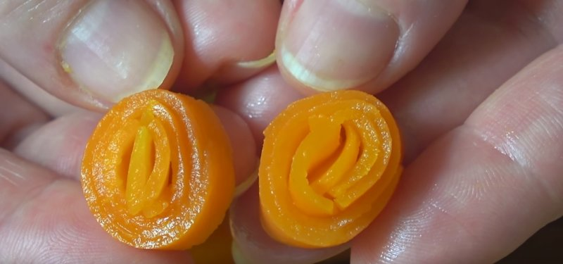 морковные розочки