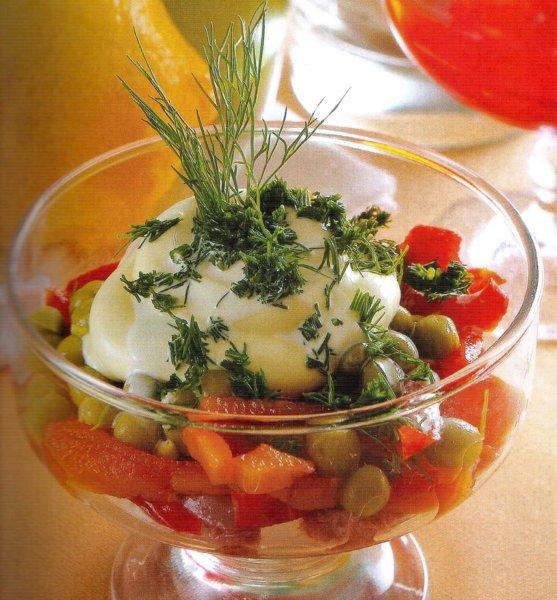 новогоднее меню с салатом