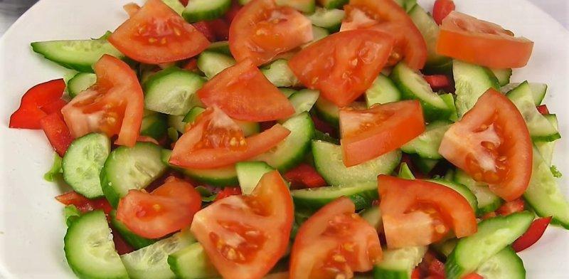 овощи кусочками