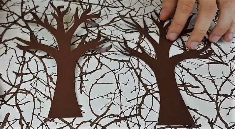 деревья из бумаги