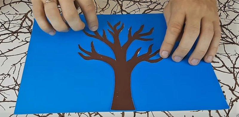 приклеиваем дерево