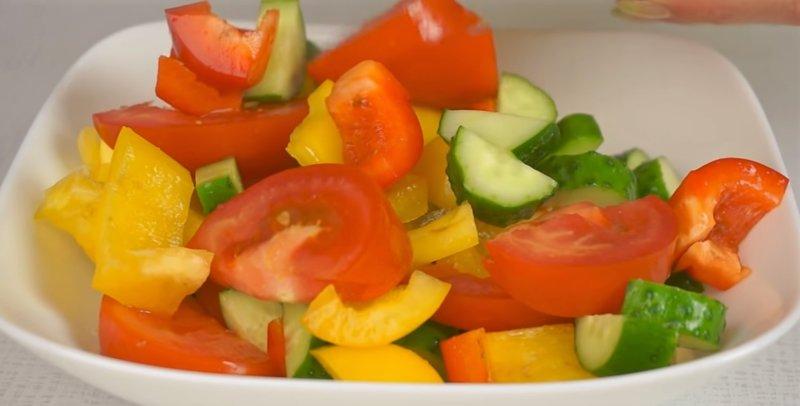 овощи в блюде