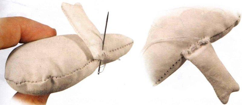 пришиваем ноги свинки