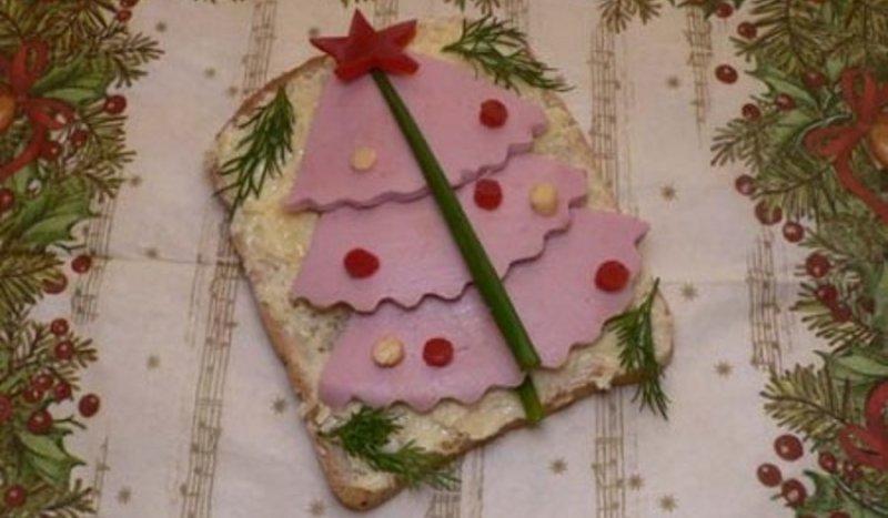 новогодний бутерброд