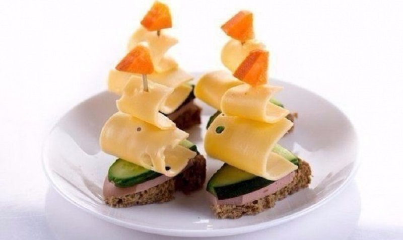 ломтики хлеба Парусники
