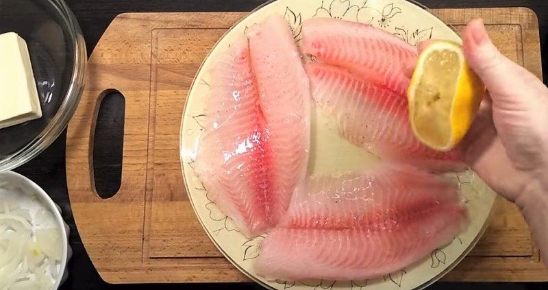 рыба в лимоне