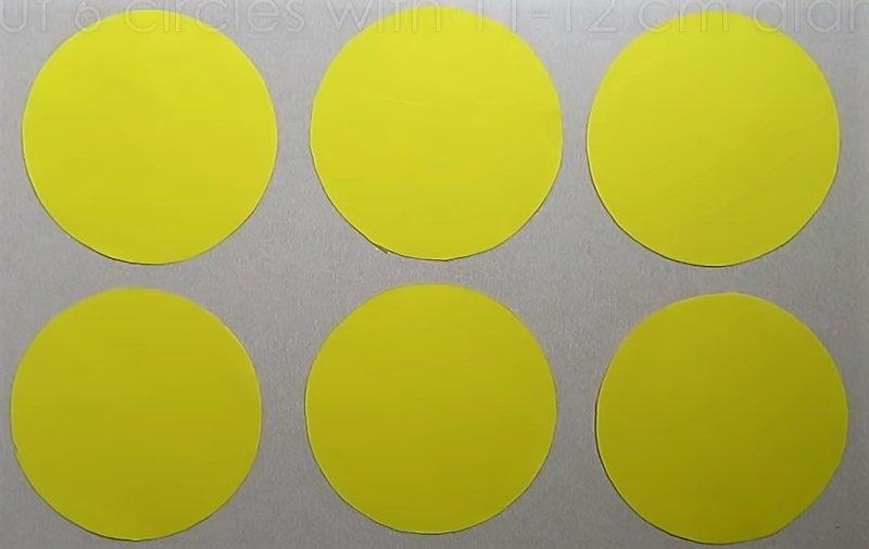 круги из бумаги