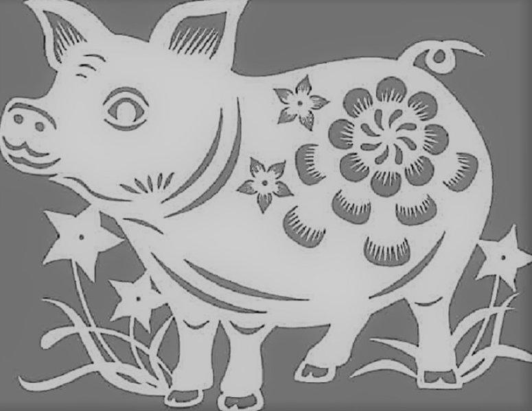 ажурная свинья