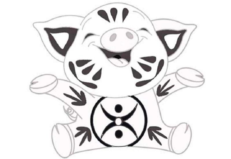 шаблон со свинкой