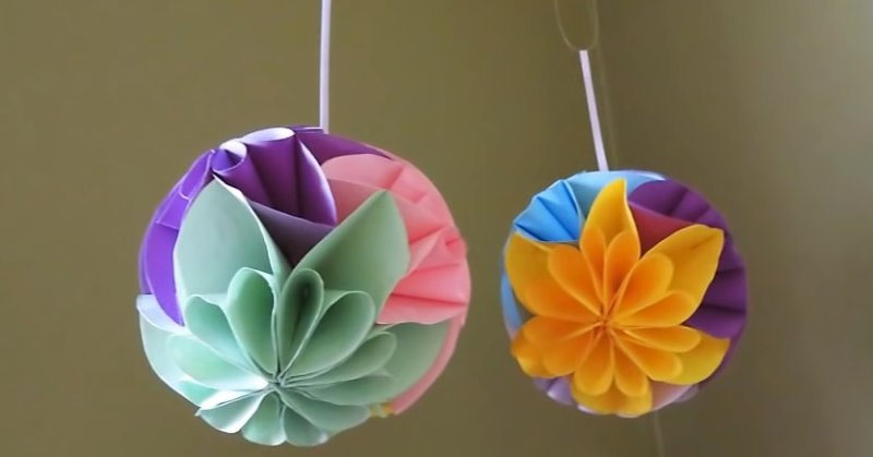 красивые шары - поделки из бумаги