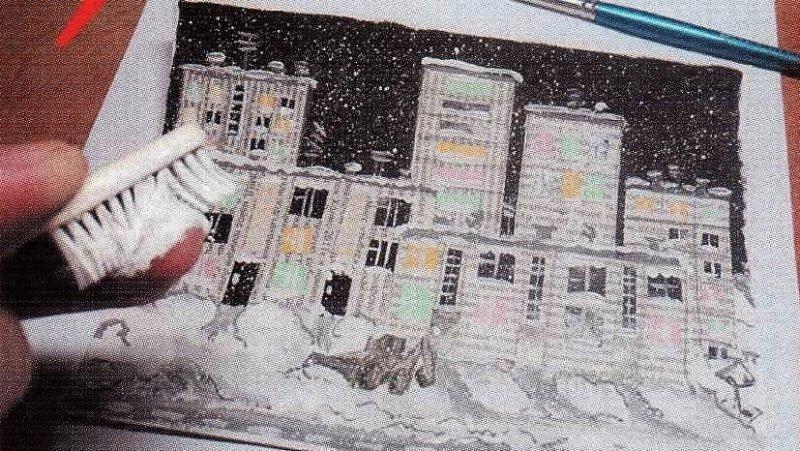 набрызг снега