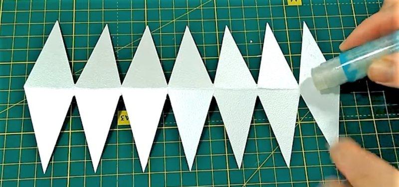 ромбики из бумаги