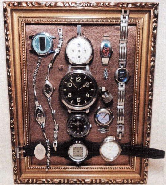 коллаж - часы