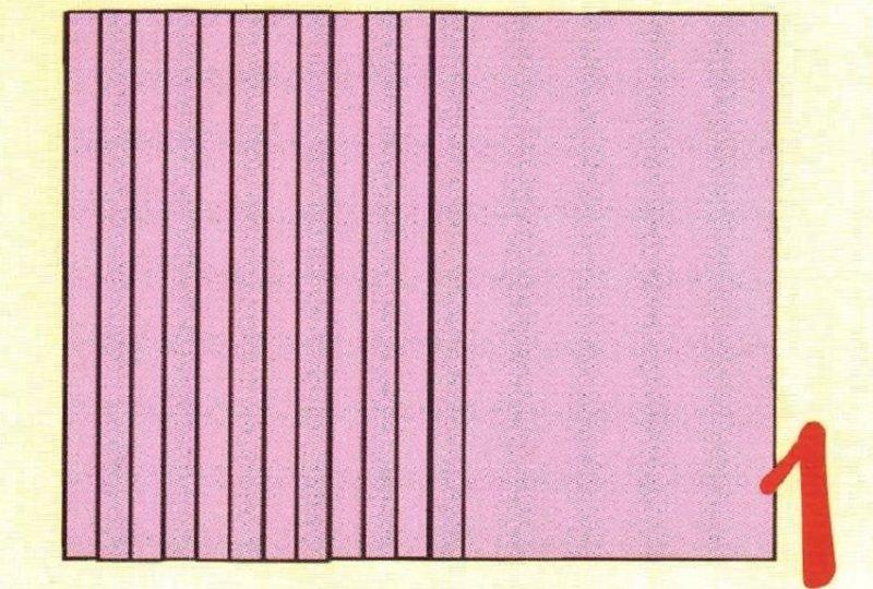полосы на бумаге