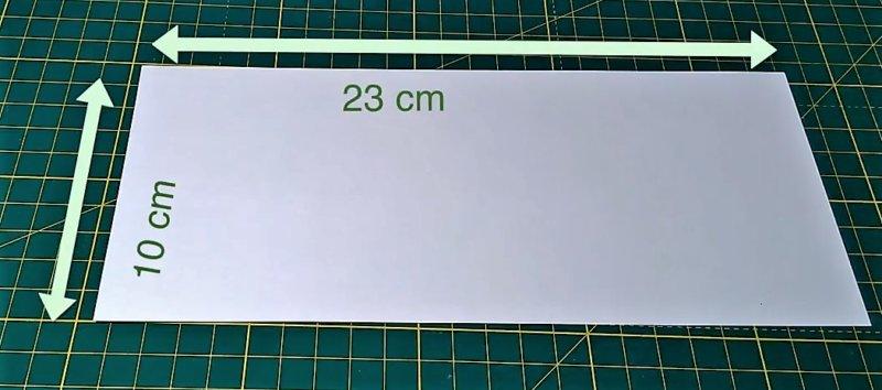 плотный лист бумаги