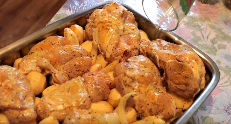 мясо индейки с картошкой
