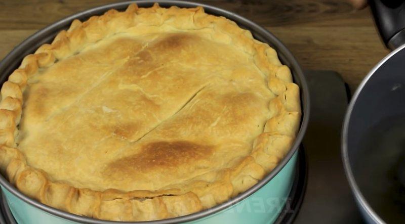 запеченный тыквенный пирог