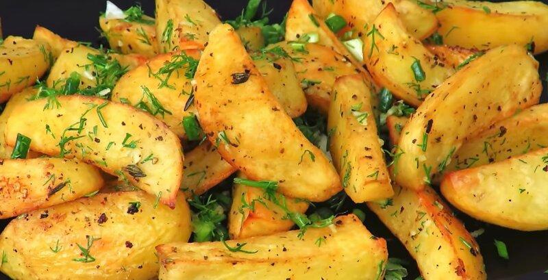 картофель по деревенски в духовке