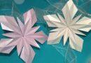 Как сделать объемную снежинку из бумаги на Новый 2019 год по шаблону