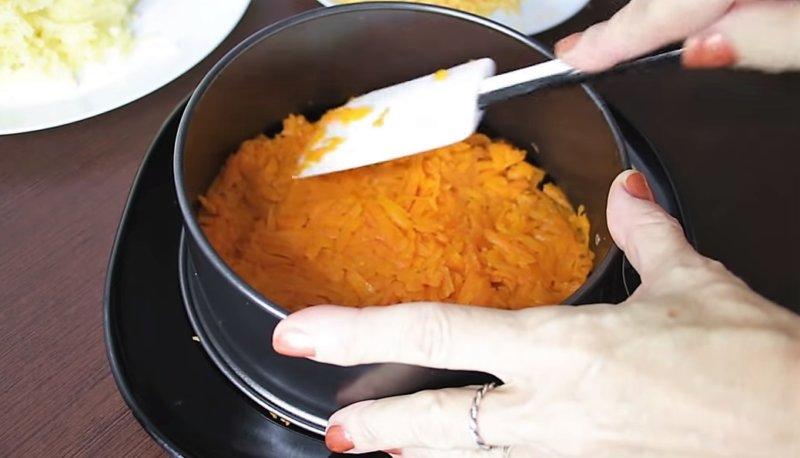 слой из моркови