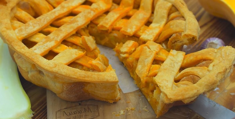 пирог с кабачком и тыквой